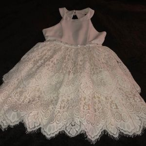 Rare Editions Dresses - Little girls white formal dress size 8